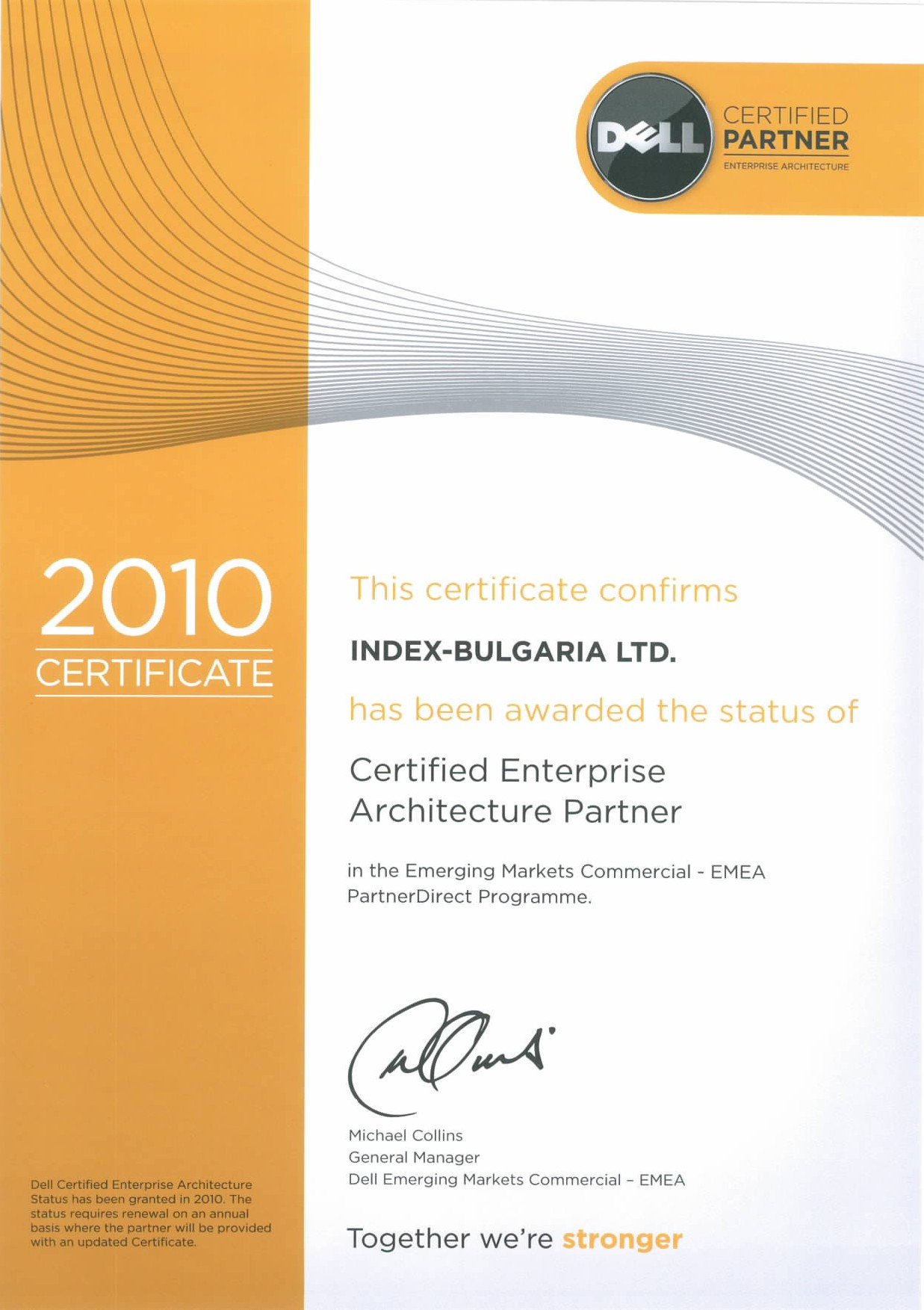 Certificates index bulgaria is certified for authorized distributor of dell products index bulgaria is certified enterprise architecture partner 1betcityfo Images